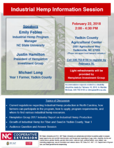 Cover photo for Industrial Hemp Information Session
