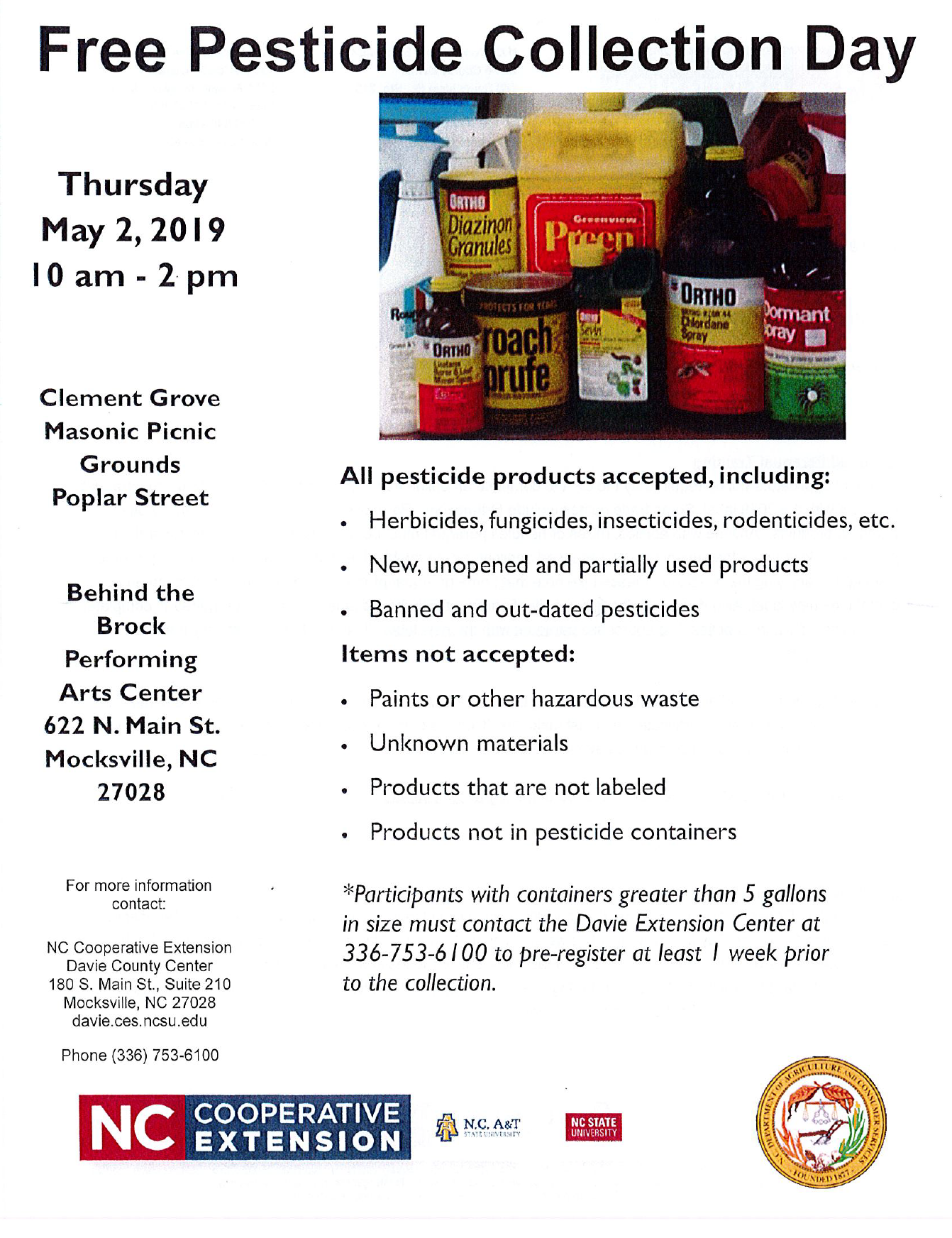 Pesticide Collection Day flyer