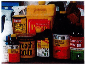Grouping of Pesticide Containers