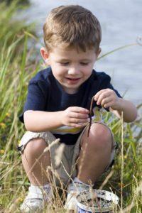 Child playing outside