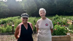 Diane Salmon, Beth Dixon, Deep Roots Community Garden Volutneers